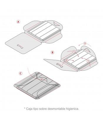 caja forma mascarilla